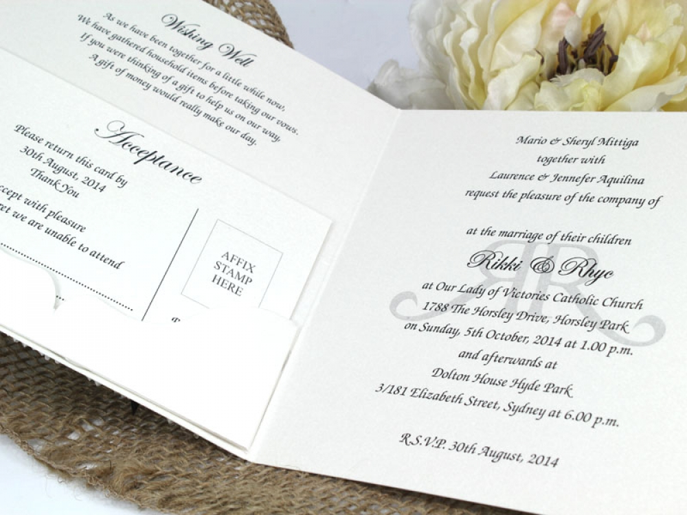 Couture Invitations From $3 70ea : Rikki & Rhye
